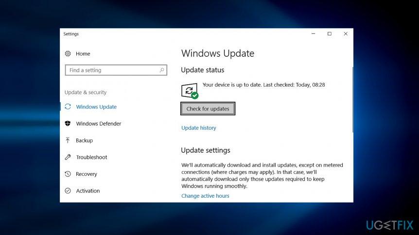 Install latest Windows updates