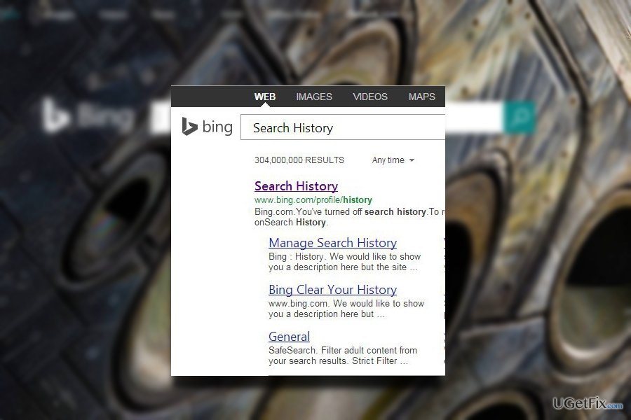 The image of Bing search engine