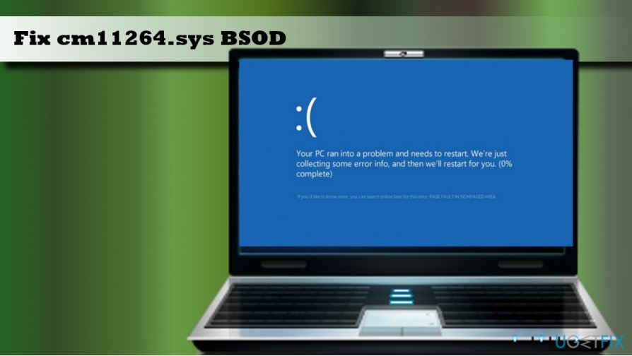 showing cm11264.sys BSOD