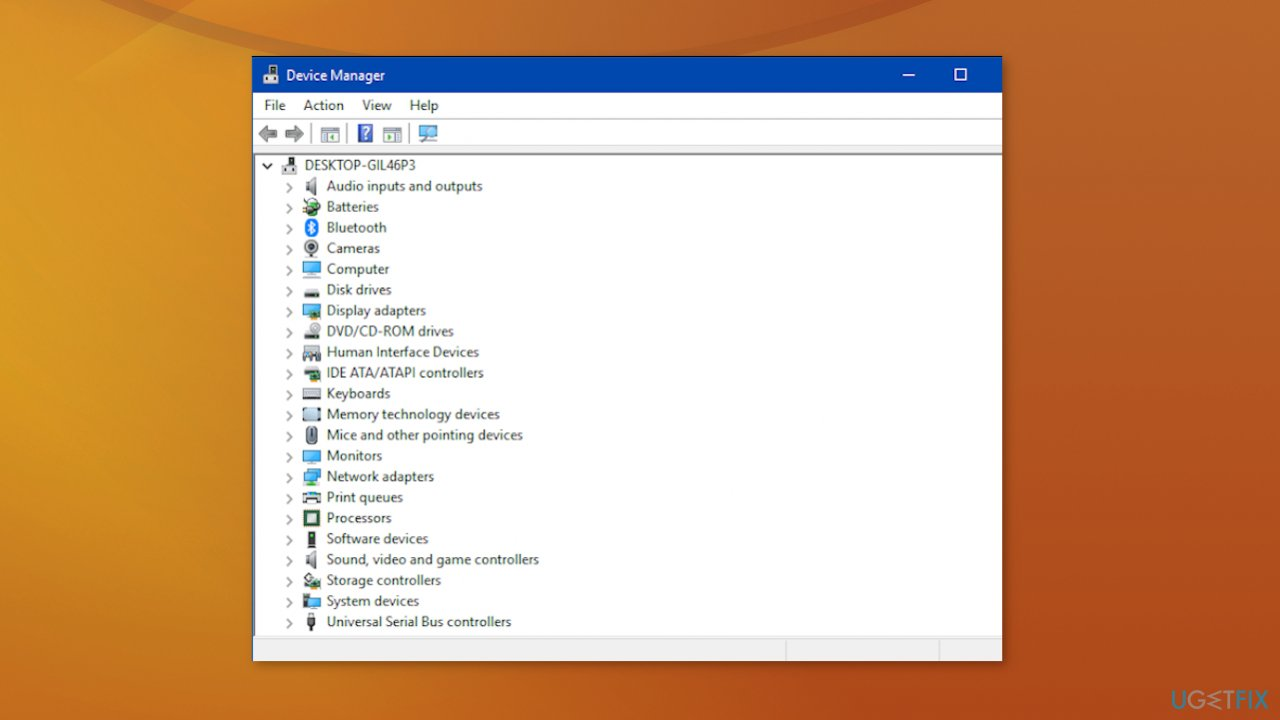 Device Manager list