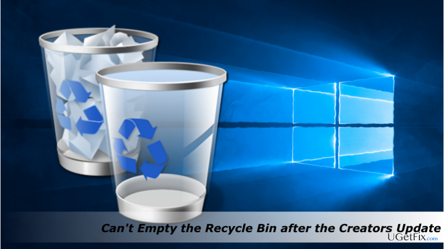emptying the Recycle Bin