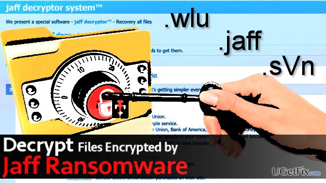 Decrypt data encoded by Jaff ransomware