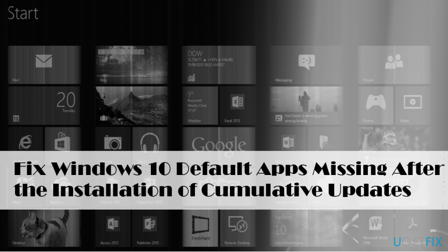 Illustrating default Windows 10 apps
