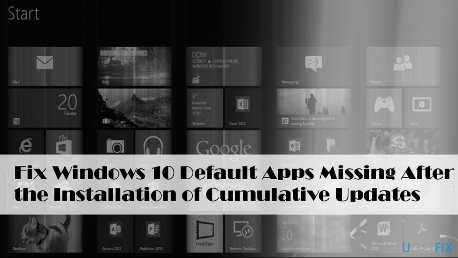Illustrating default Windows 10 apps