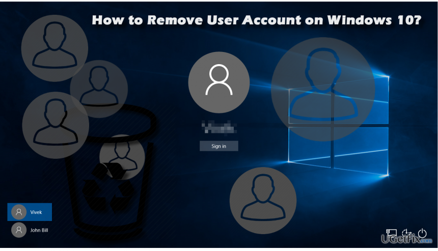 how to delete the user account in windows 10