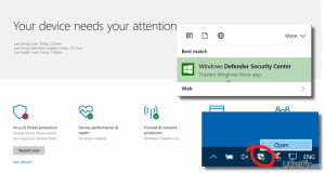 How to Remove the Windows Defender Security Center Icon from Windows 10 Taskbar System Tray?
