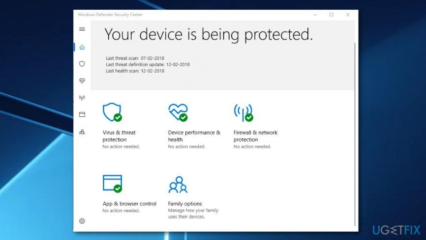 Disable firewall and antivirus