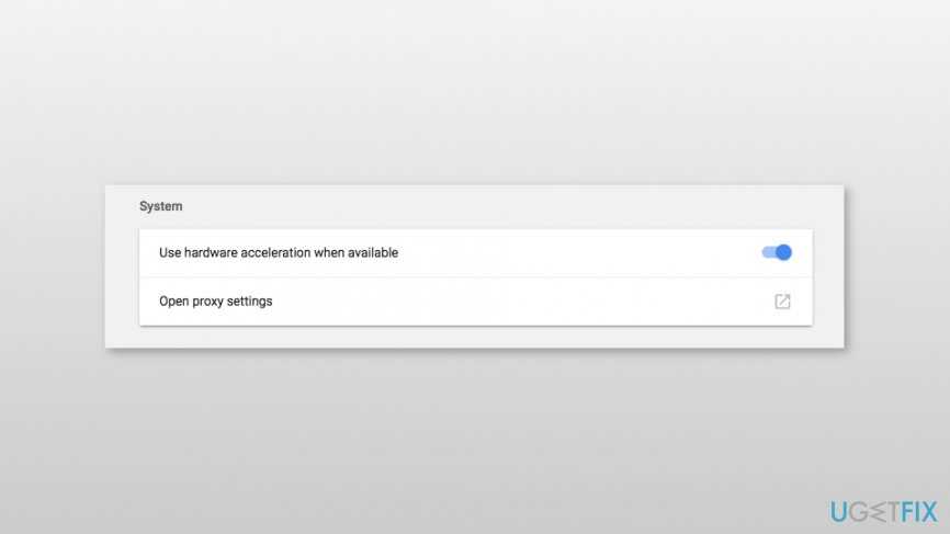 Disable hardware acceleration on Google Chrome