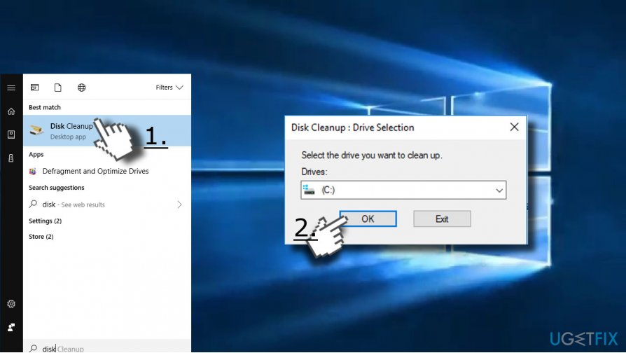 Use Disk Cleanup utility