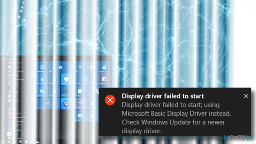 Display Driver Failed to Start error