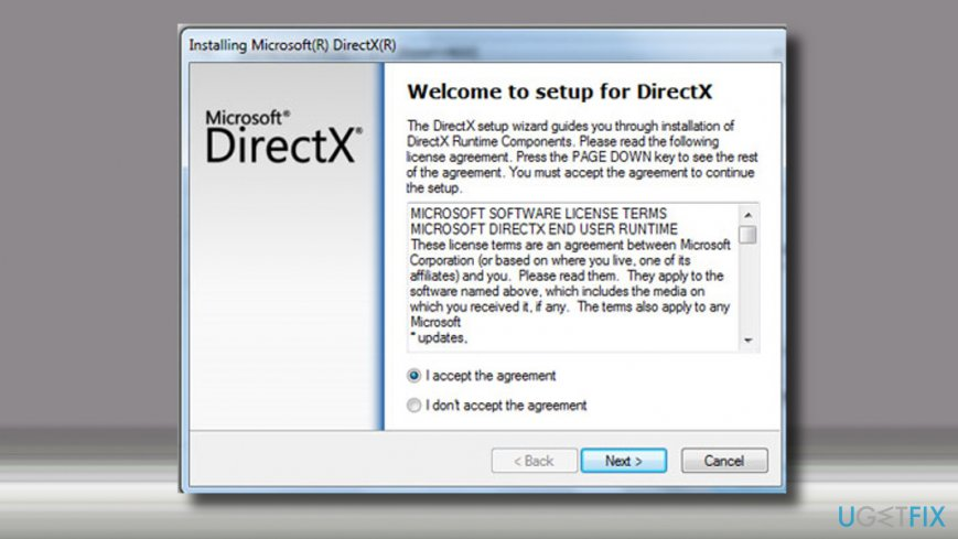 Download the latest DirectX version