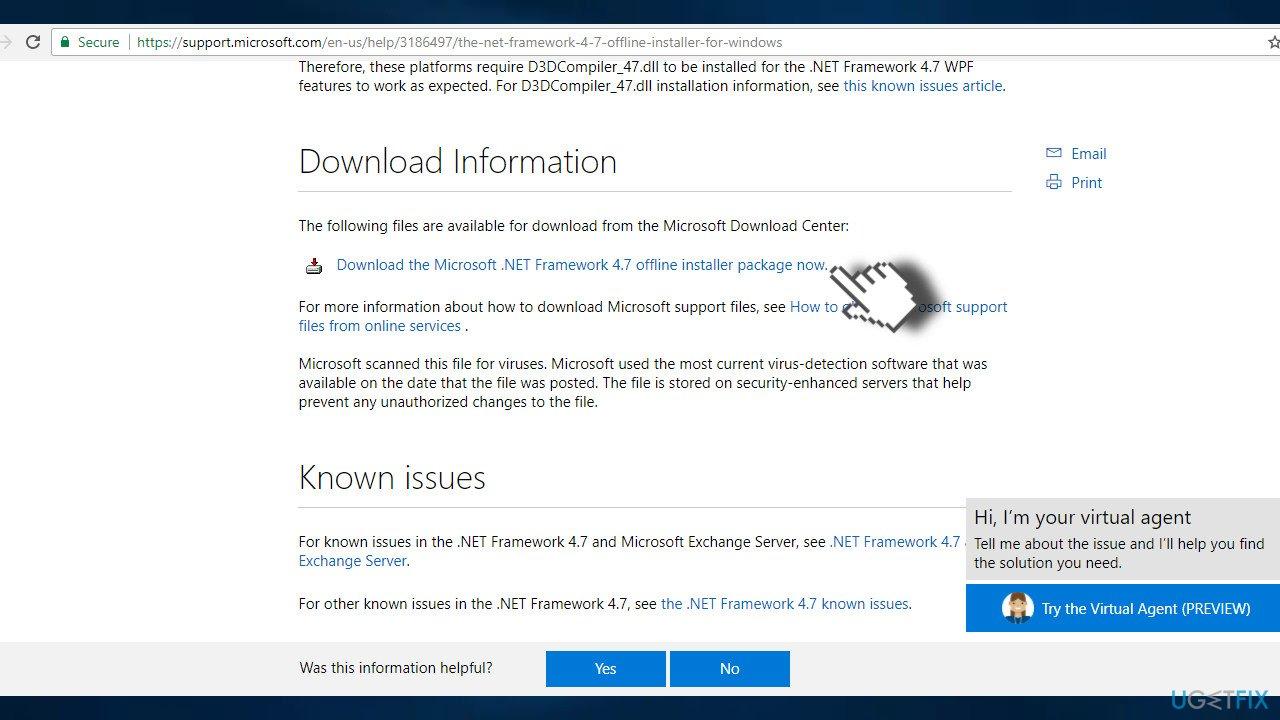 Download NET Framework 4.7 offline installer package