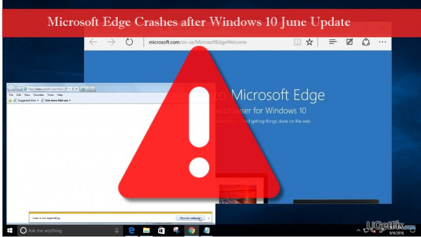 illustrating broken Microsoft Edge