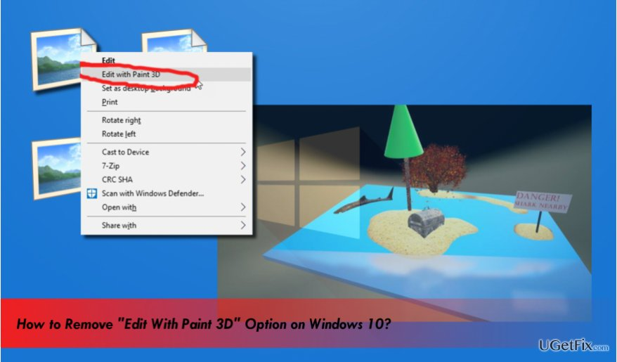 "delete ""Edit with Paint 3D"" option"