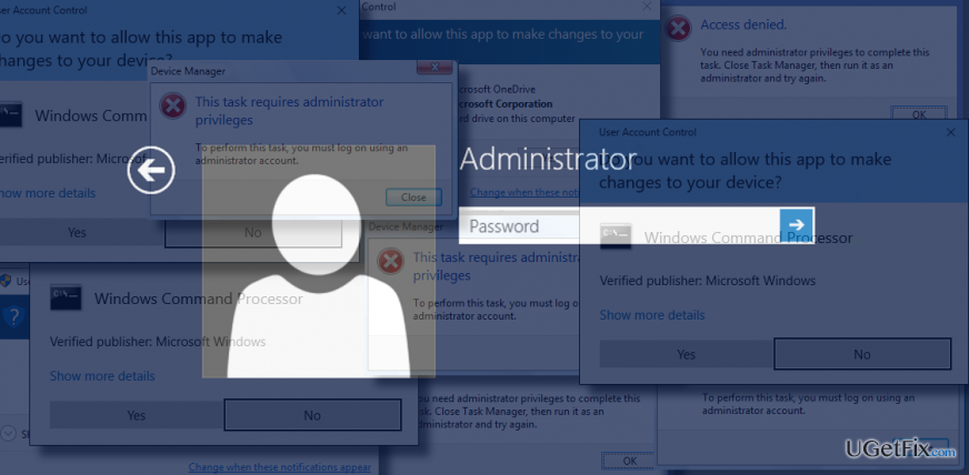 a picture of an elevated administrator account