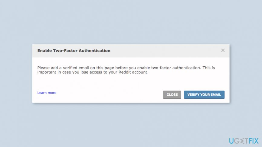 Enable Reddit two-factor authentication settings