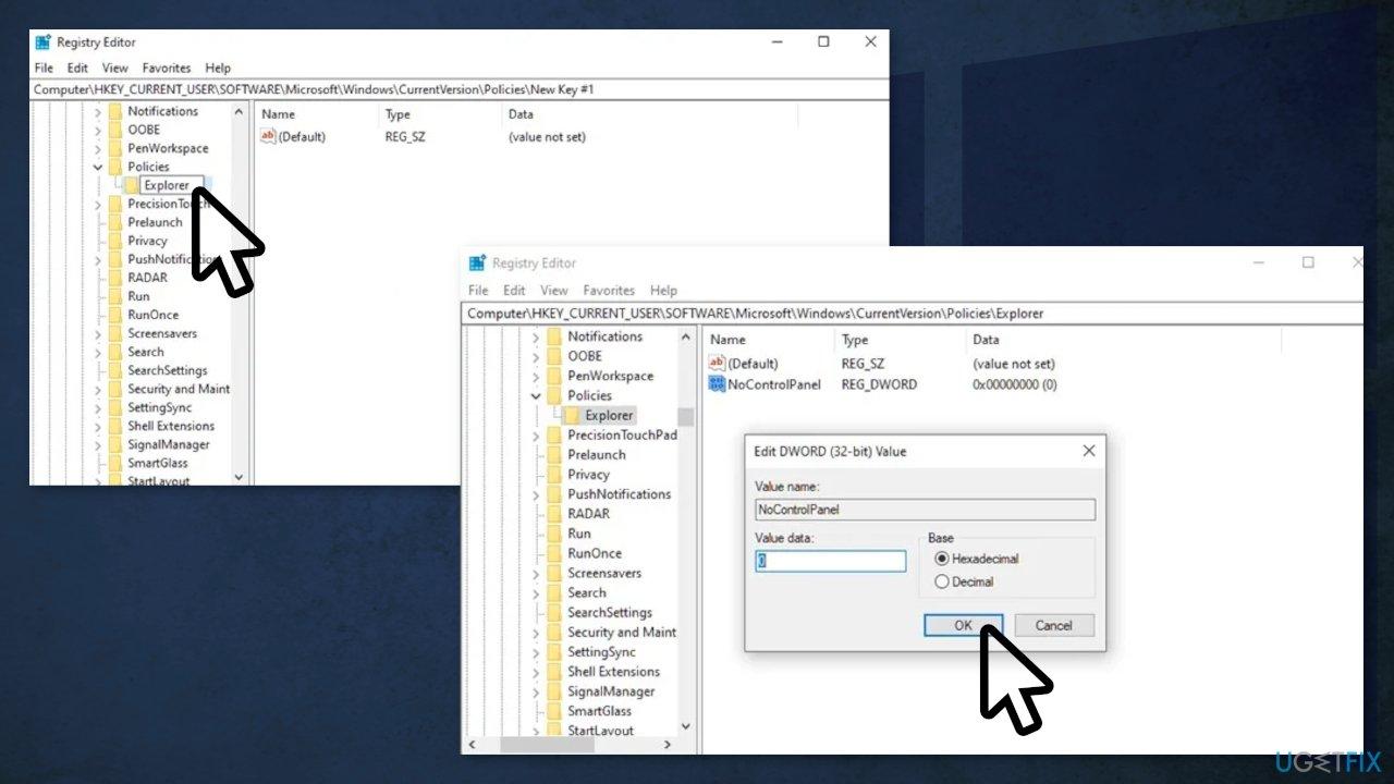 Enable Settings App via Registry Editor