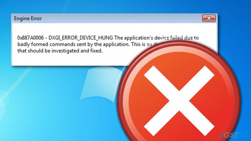 How to fix error 0x887A0006?