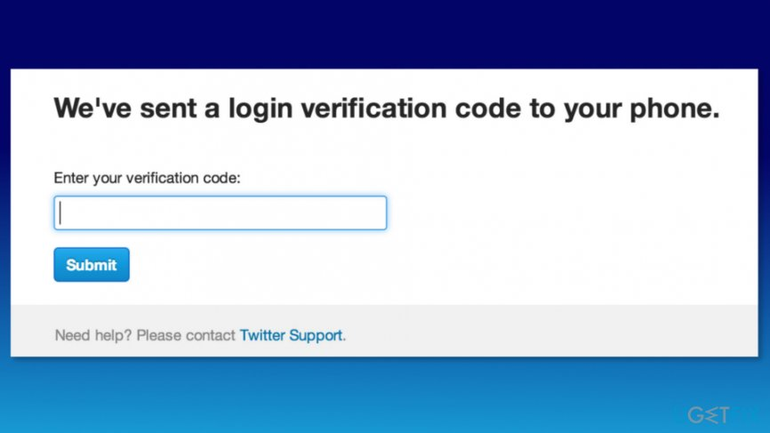 Enter Twitter verification code
