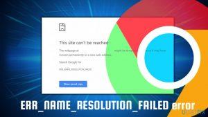 How to fix error 137 ERR_NAME_RESOLUTION_FAILED on Google Chrome?