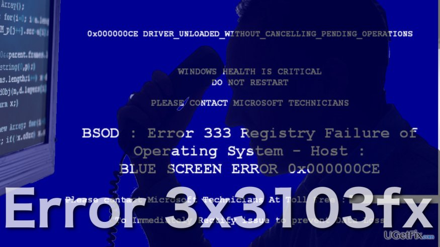 Image of Error 3x3103fx virus
