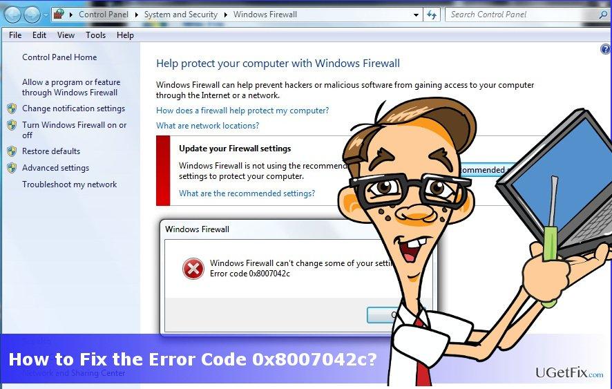 error code 0x8007042c printscreen