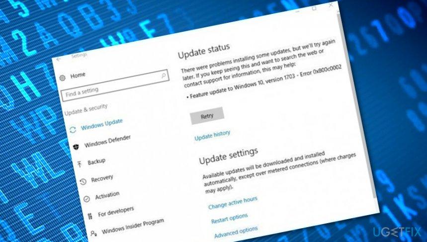 Error 0x800c0002 on Windows 10