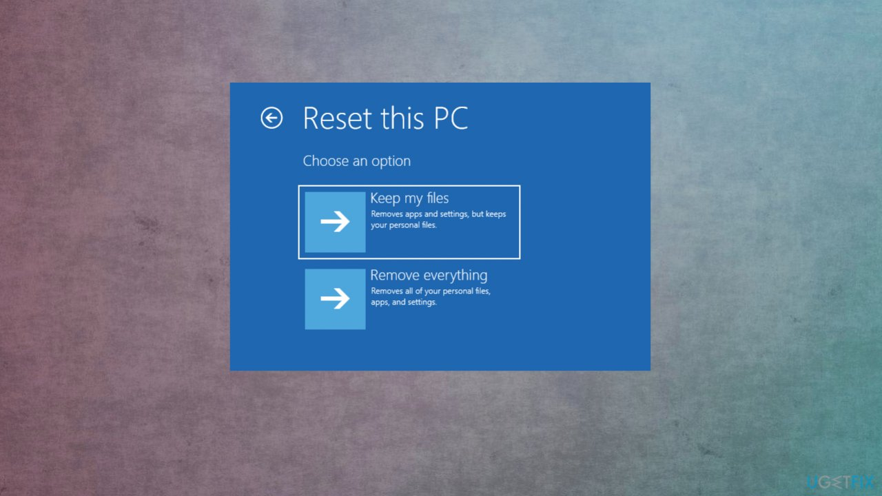 Reset the PC