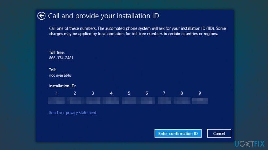 Activate Windows via the Phone