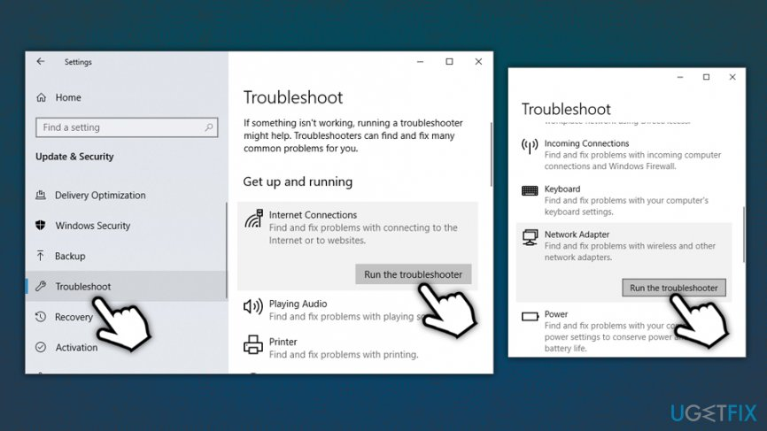 Run troubleshooters