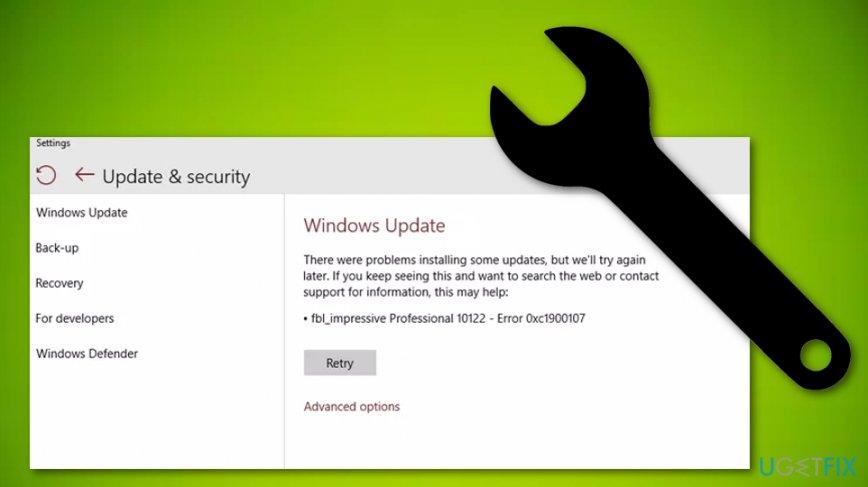Fix Windows 10 Update Error 0xc1900107