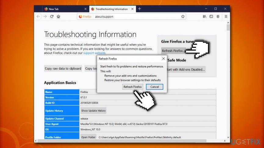 Error code: rundll32.exe Mozilla Firefox