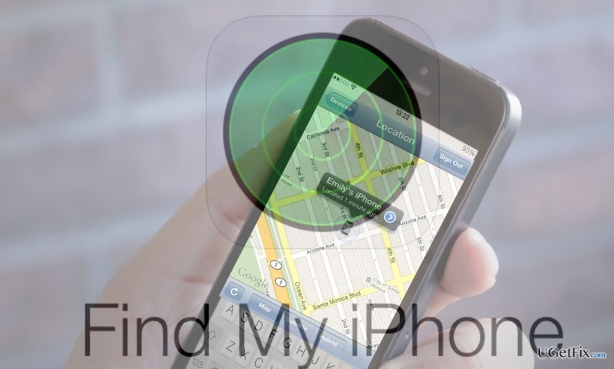 an illustration of Find My iPhone app