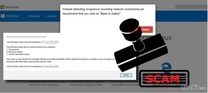 "an image of ""Firewall Detected Suspicious Network Connections"" pop-up"