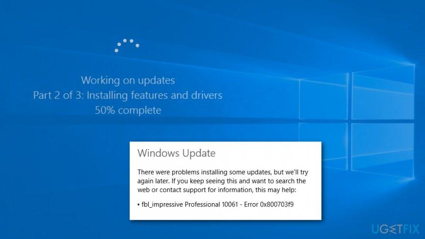 fix 0x800703f9 Windows 10 update error