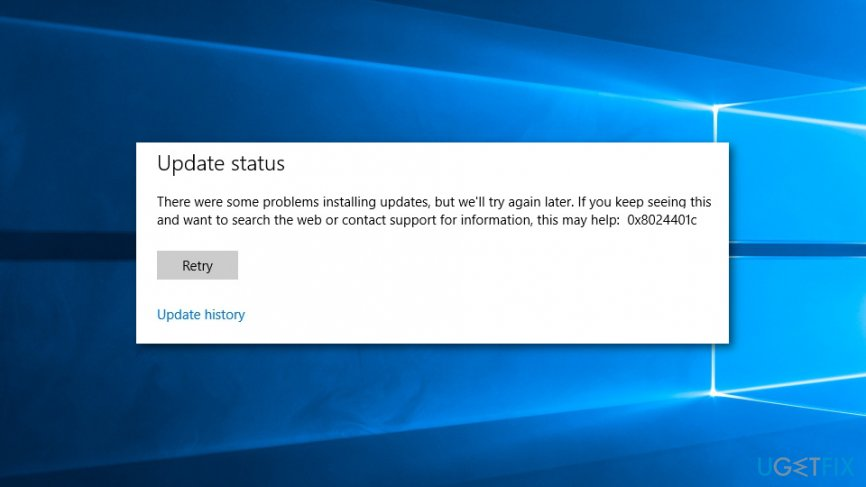 Fix 0x8024401c Windows update error