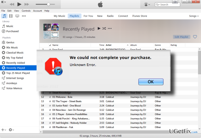 How to Fix -45054 Error in the iTunes Store?