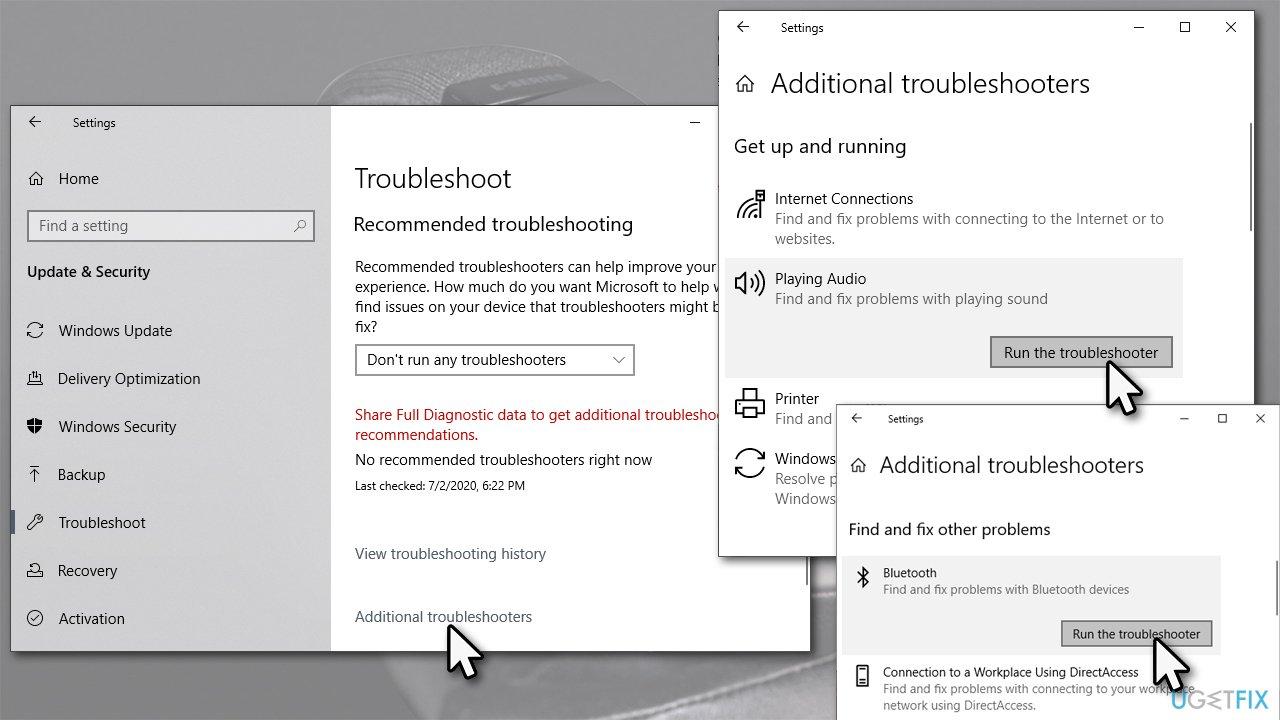 Run Windows troubleshooter