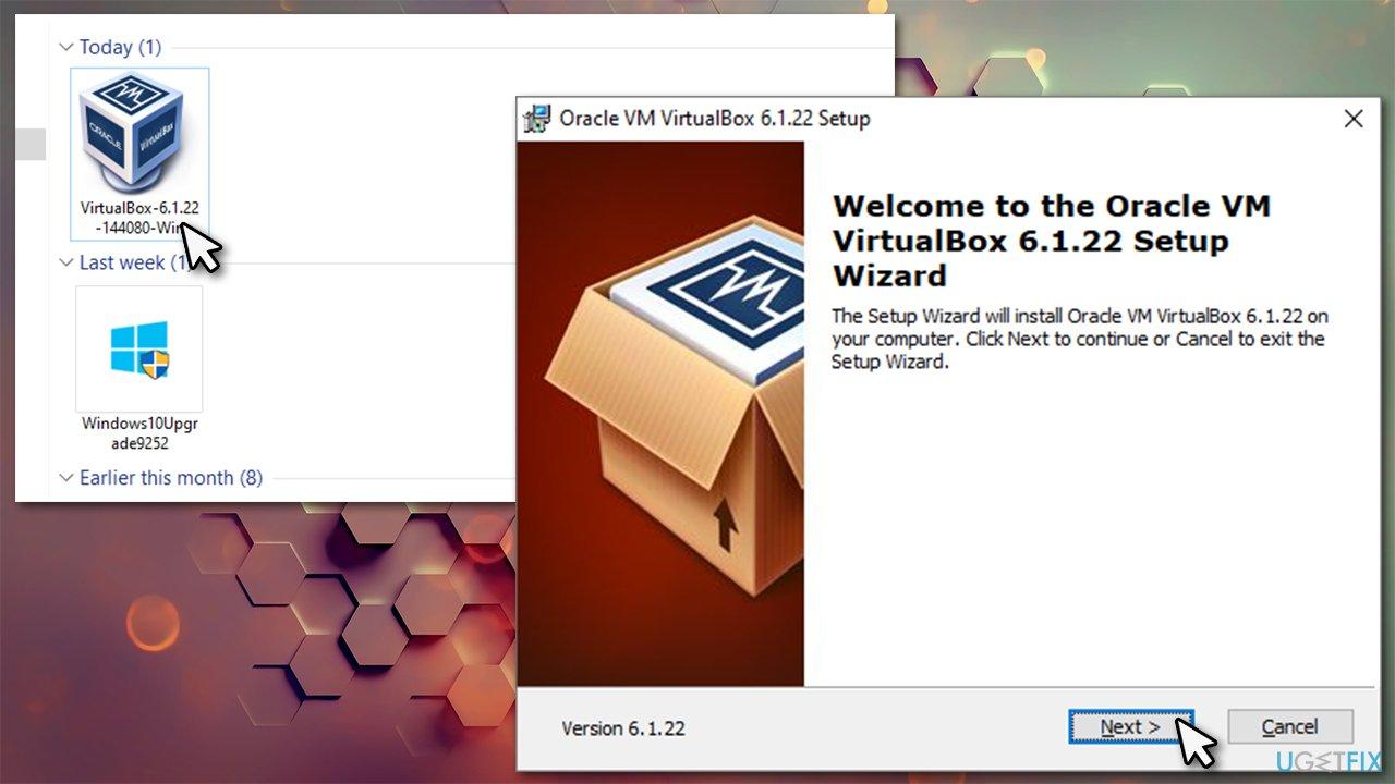 Use official VirtualBox installer