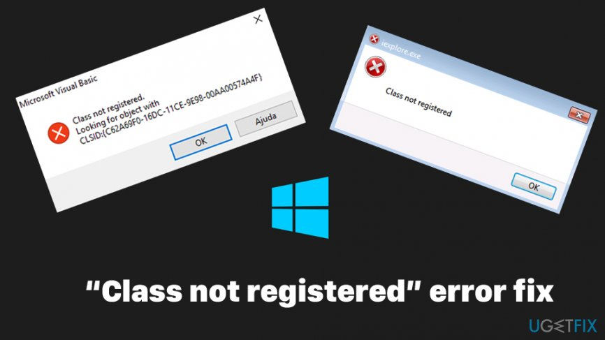Class not registered error fix
