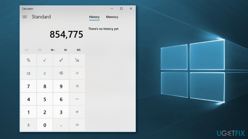 Fix corrupted calculator app on Windows 10