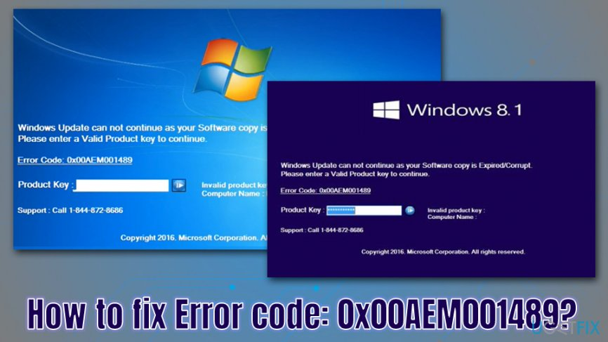 How to fix Error code: 0x00AEM001489?