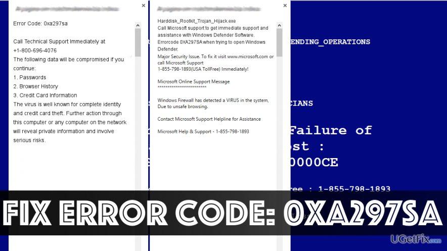 Fix Error Code: 0xa297sa