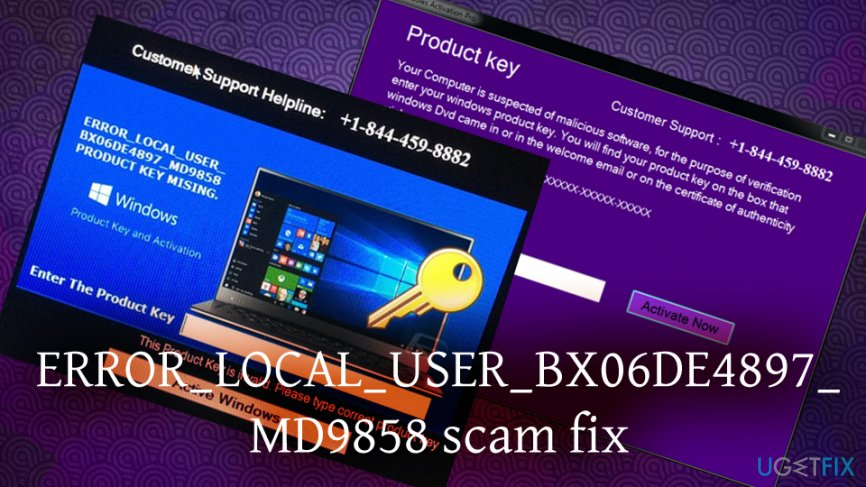 Fix  ERROR_LOCAL_USER_BX06DE4897_MD9858 warning