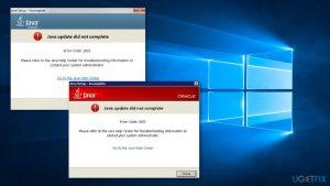 How to fix Java error 1603 in Windows 10?