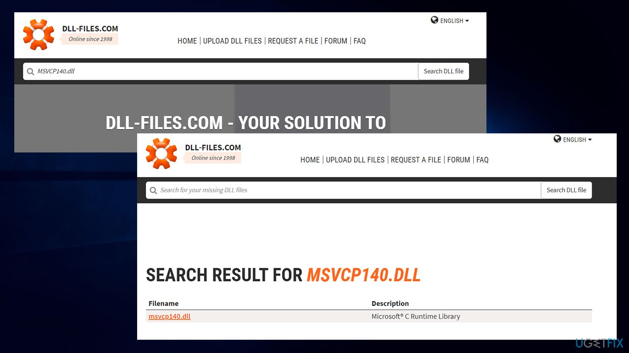 Download the missing DLL file