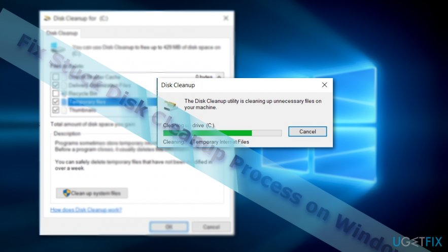 Fix Stuck Disk Cleanup error