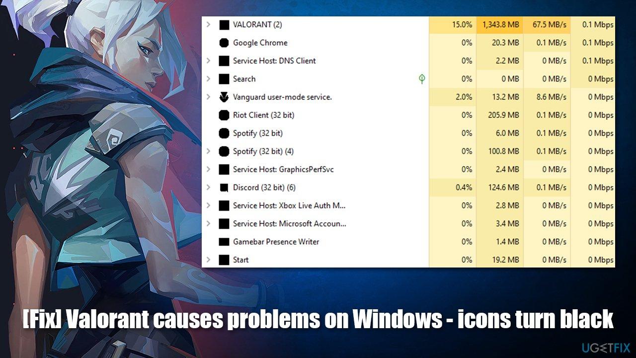 [Fix] Valorant causes problems on Windows - icons turn black
