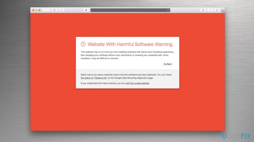 "Fix ""Website with harmful software warning"""