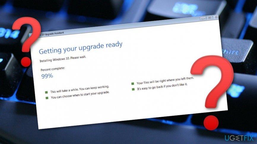 fix Windows Upgrade Assistant bug when installing Creators Update
